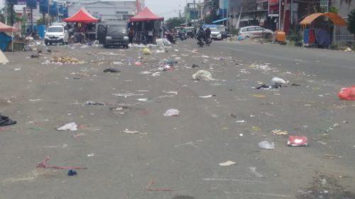Malam Pergantian Tahun, Wajah Mamuju Diselimuti Sampah
