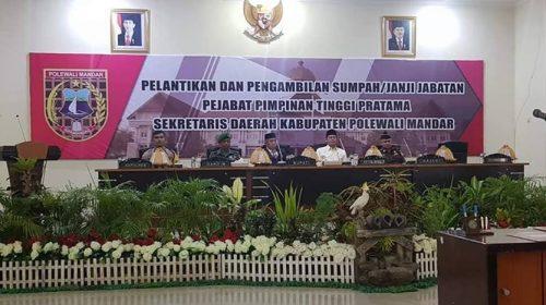 Penjabat Sekda Polman Pamit, Ir. H. Bebas Manggazali, M.Si Dilantik