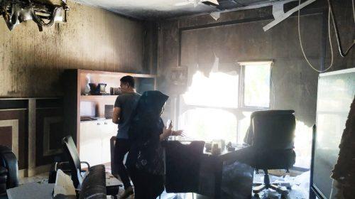 Kantor Bappeda Terbakar, Penyebab Diduga Korsleting AC