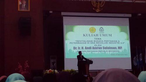 Menteri Pertanian RI Hadir di Kuliah Umum UIN Alauddin Makassar