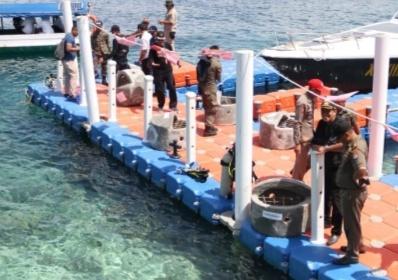 Rangkaian FMM, Rumah Ikan Ditanam di Pulau Karampuang