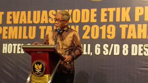 DKPP Evaluasi Penegakan Kode Etik Penyelenggara Pemilu 2019