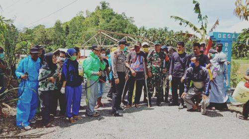 Antisipasi Virus Corona, Desa Bambangan Lakukan Penyemprotan Disinfektan