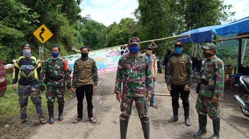 Danramil 1409-04/TM Kunjungi Posko Pengamanan COVID-19 Desa Tabbinjai