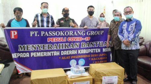 Pemkab Mamuju Terima Bantuan APD dari Pt. Passokorang