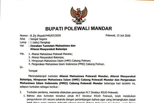 Plt. Direktur RSUD Polewali Mengundurkan Diri