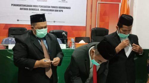 Ombudsman, Bawaslu dan KPU Sulbar Teken PKS Menuju Pemilu
