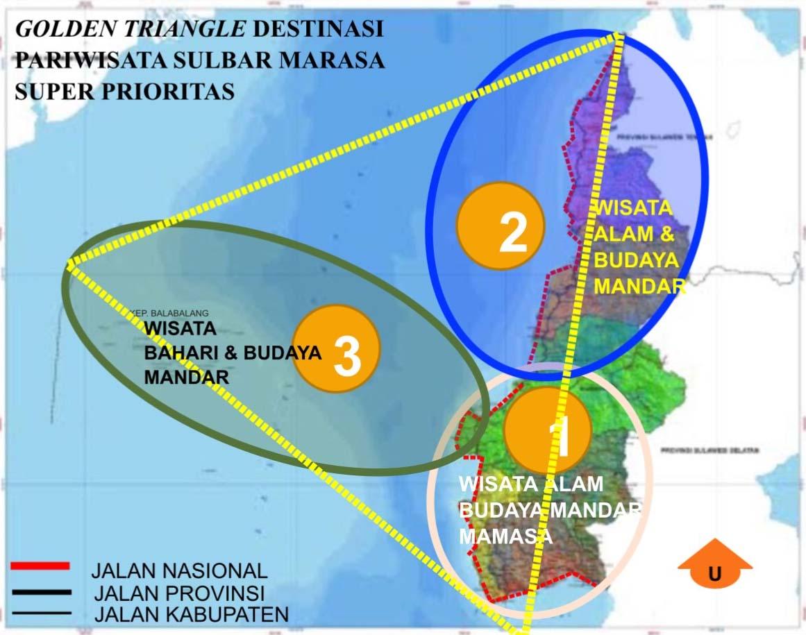 "Pulau Gusung Toraja, ""Golden Triangle"" Destinasi Pariwisata Sulbar Marasa"