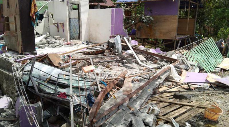 Salah satu titik hancur di Desa Mekkatta, Kecamatan Malunda (Foto: Wahyudi)