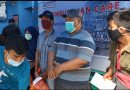 Pimpinan Ombudsman SUlbar menyerahkan bantuan logistik ke Korban Gempa di Mamuju