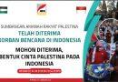 Warga Palestina Mengumpulkan Donasi untuk Indonesia