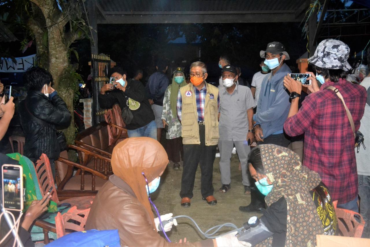 Gubernur Sulbar Berkunjung ke Posko Relawan