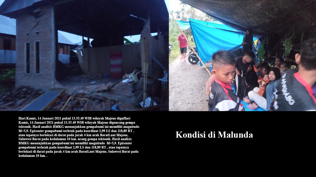 Warga Malunda Mengungsi ke Lokasi Aman