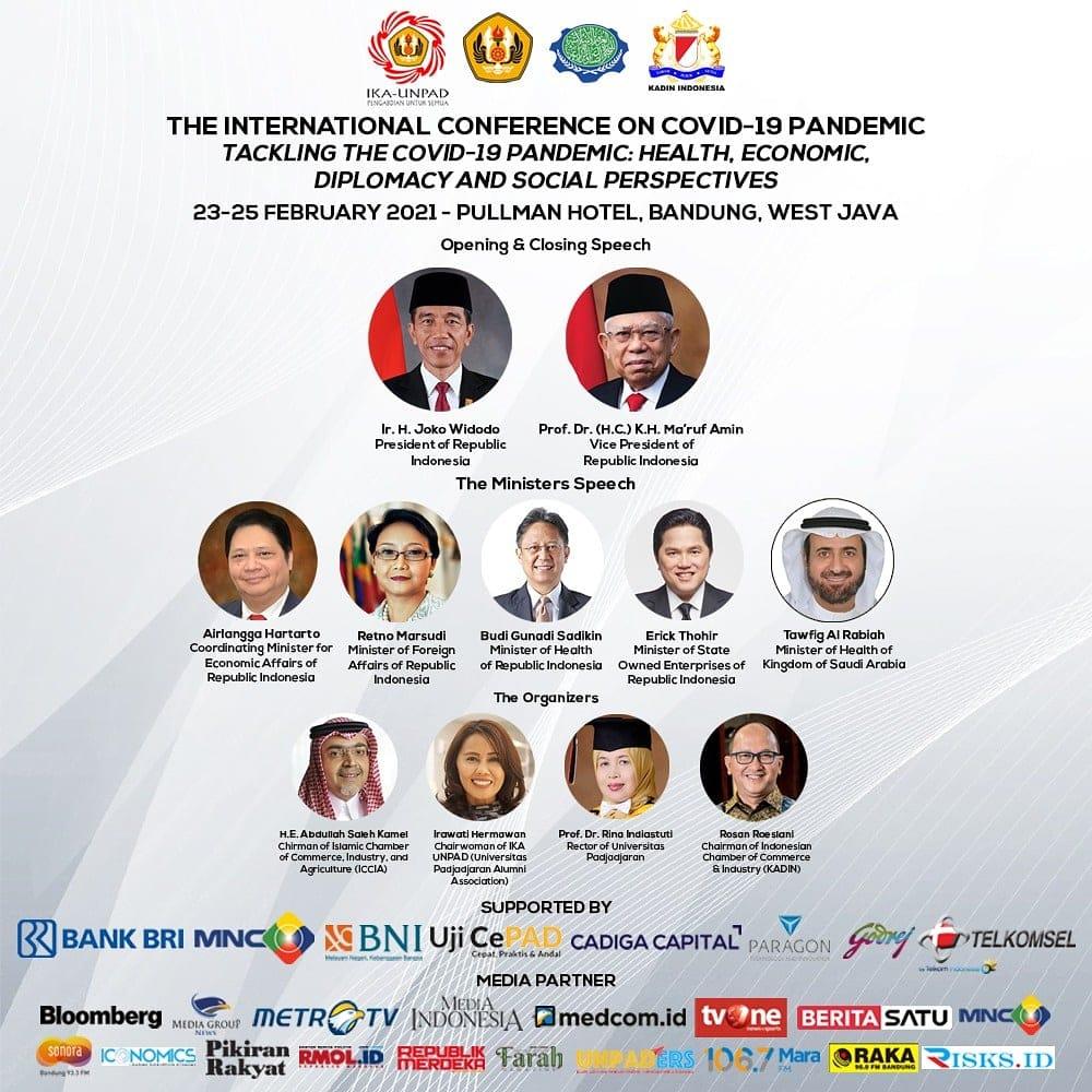 Konferensi Internasional Mengatasi Pandemi COVID-19 Digagas IKA-Unpad