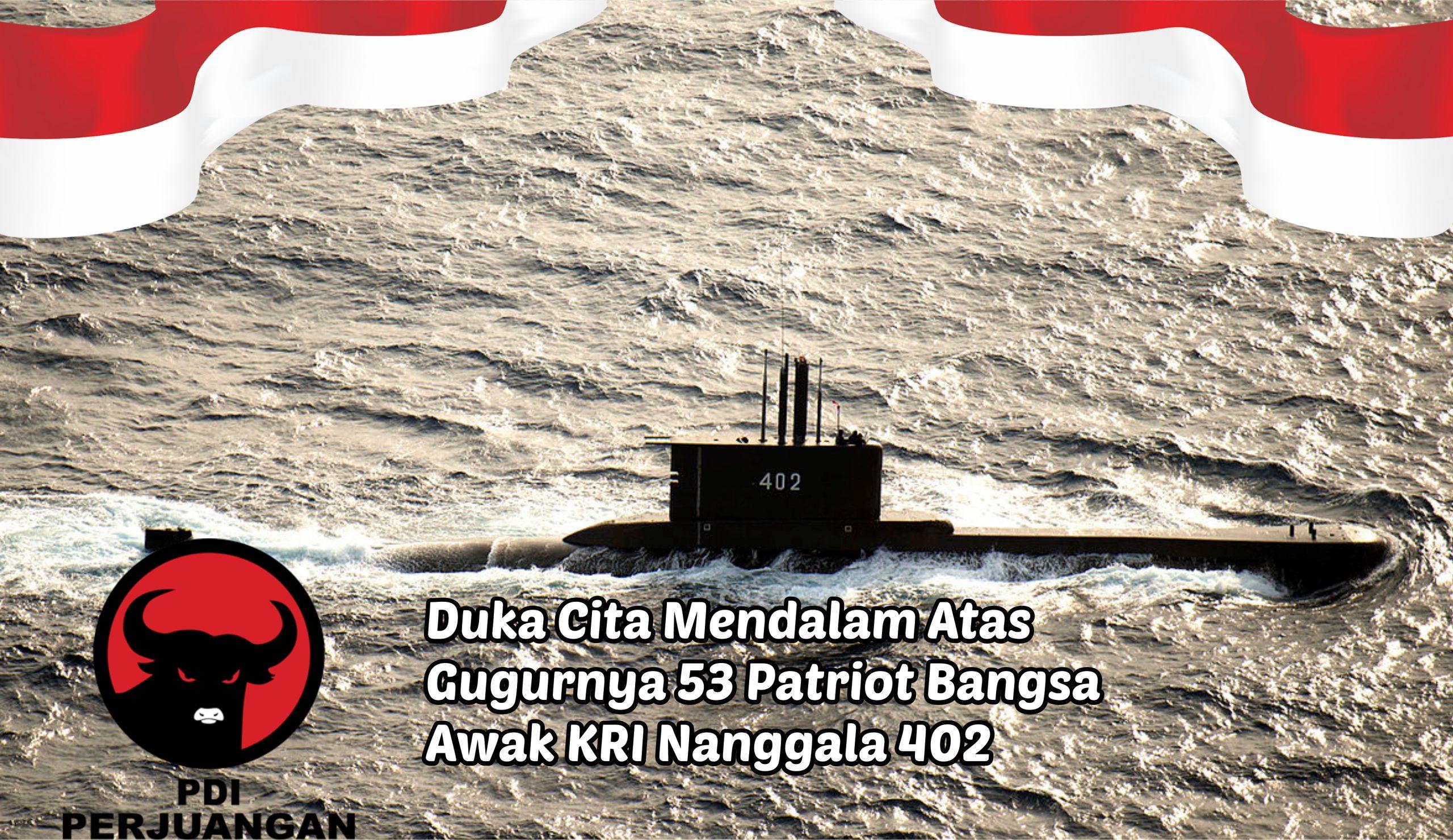 PDIP Tabur Bunga atas Gugurnya 53 Patriot KRI Nanggala 402