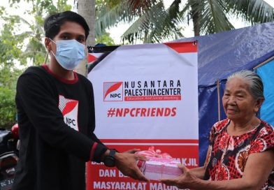 NPC Berbagi Takjil di Pengungsian Malunda