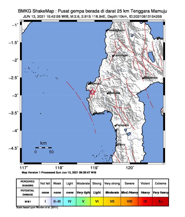 BMKG: Keseimbangan, Wajar Terjadi Gempa di Mamuju