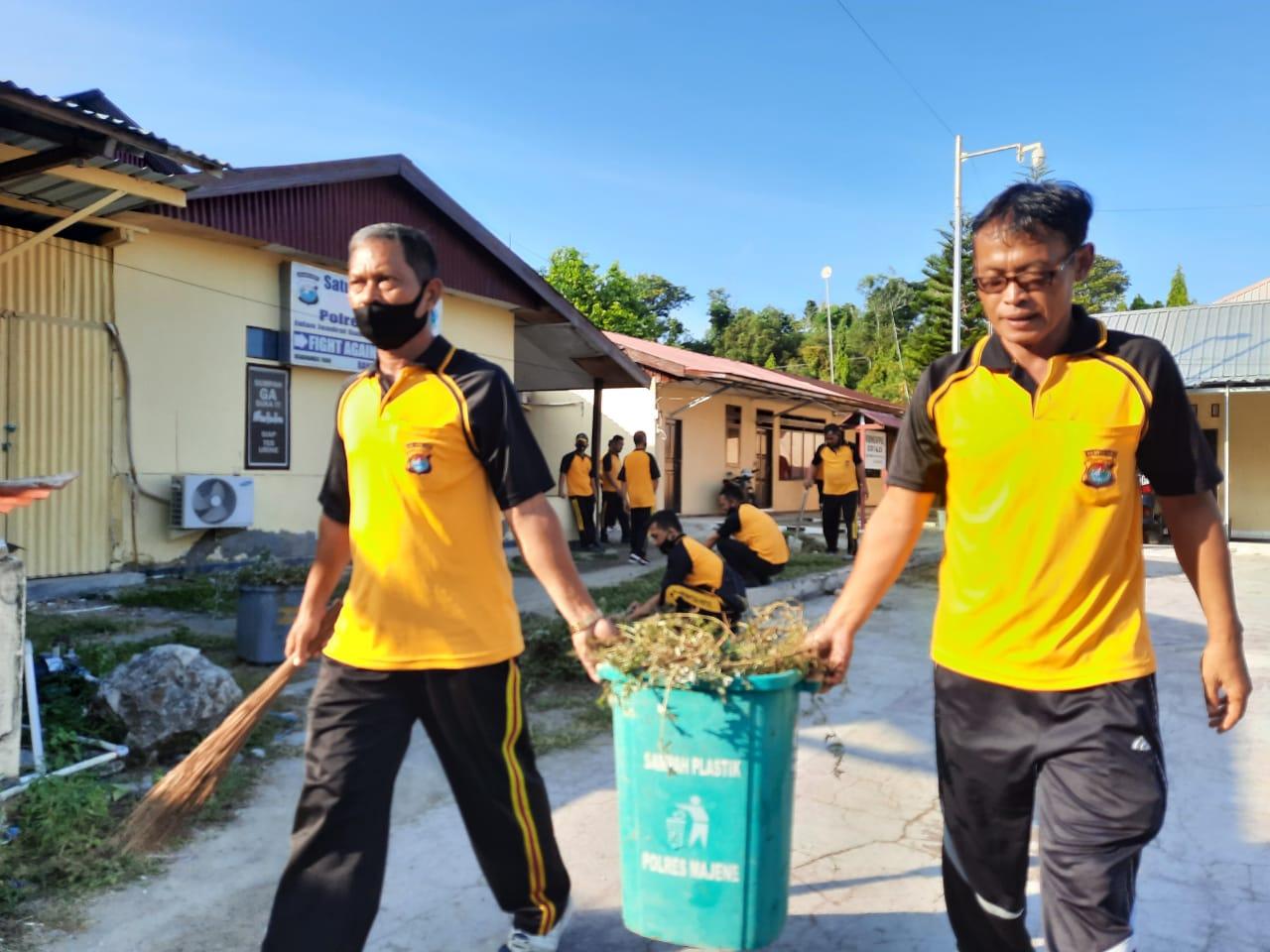 Waka Polres: Bersih Lingkungan Memutus Potensi Covid-19