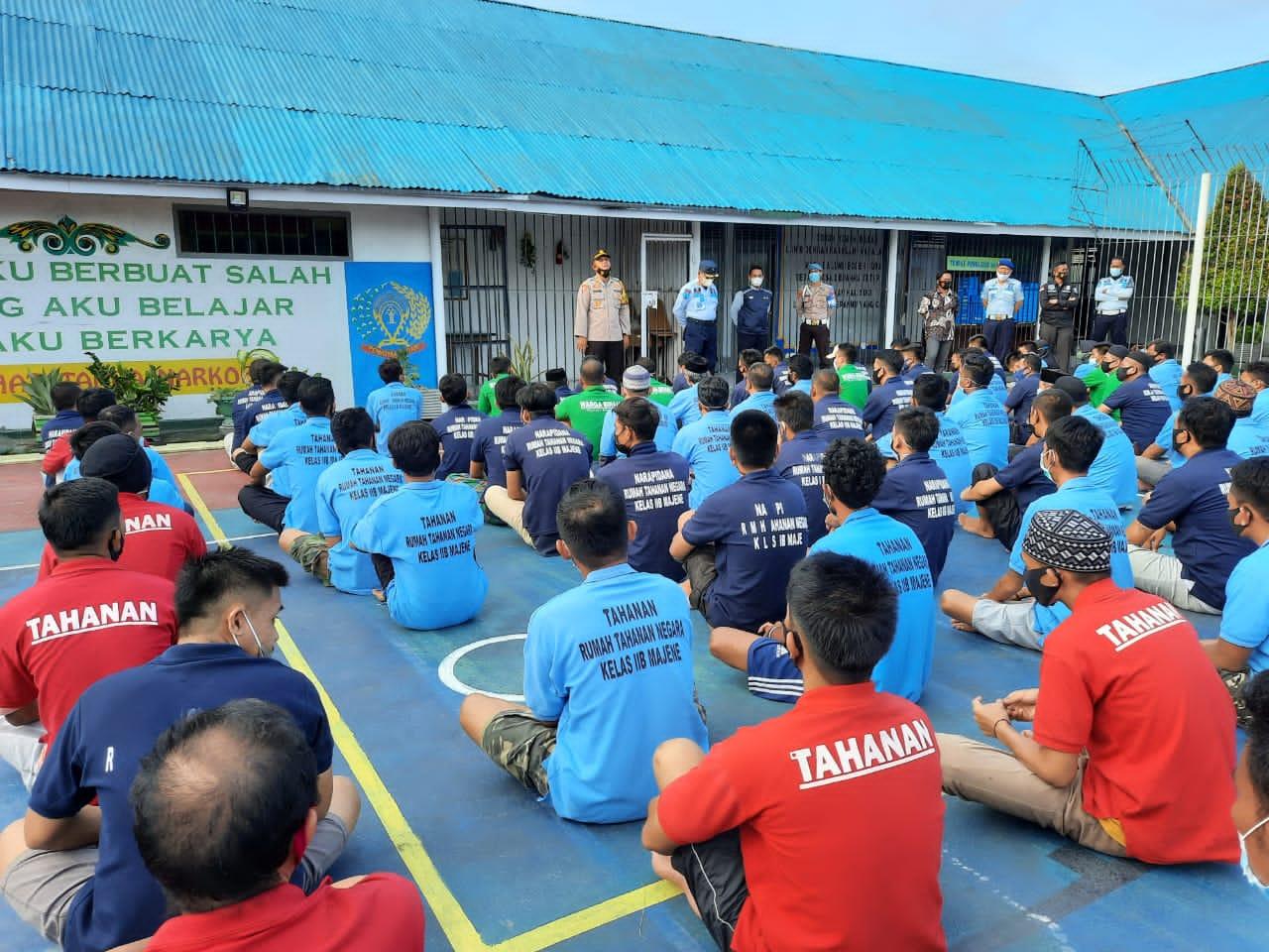Peringatan HANI, Satuan Narkotika Geledah Rutan Kelas II B