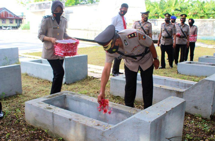 Gelora Bhayangkara, Polres Gelar Ziarah dan Tabur Bunga