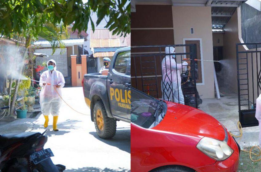 Covid Meningkat, Polres Majene-Relawan Siaga 86 Gencar Semprot Disinfektan