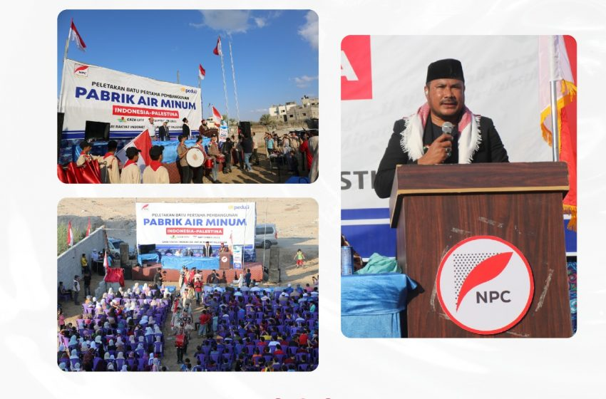 NPC-DT Peduli, Bangun Pabrik Air Minum Indonesia di Gaza